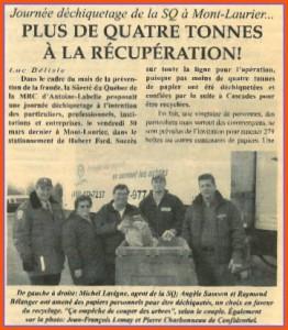 Journée Déchiquetage de la SQ à Mont-Laurier